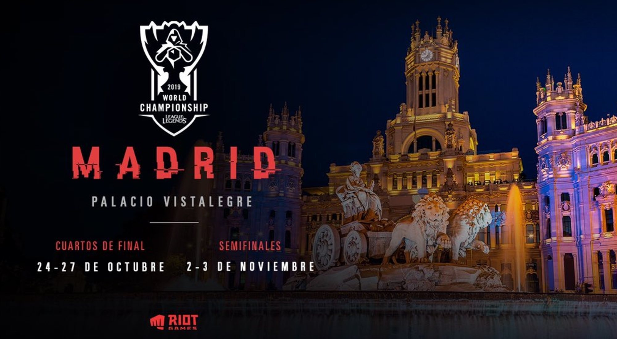 Worlds 2019: el campeonato mundial de LoL llega a Madrid