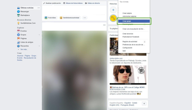 Crear un grupo privado te permitirá compartir publicaciones e imágenes únicamente entre una parte de tus contactos.