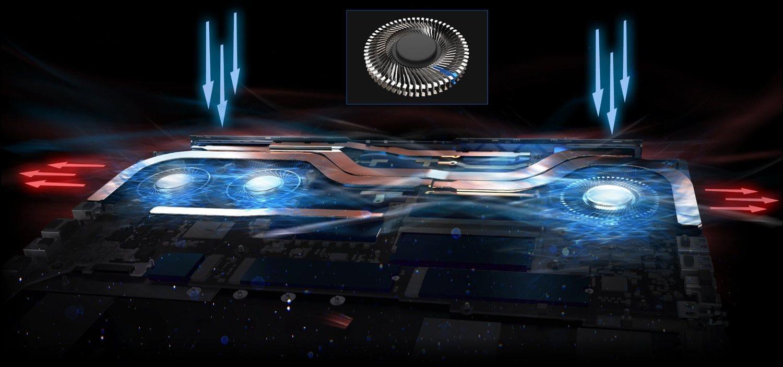 Acer ha diseñado un sistema de ventilación innovador llamado AeroBled 3D Fan