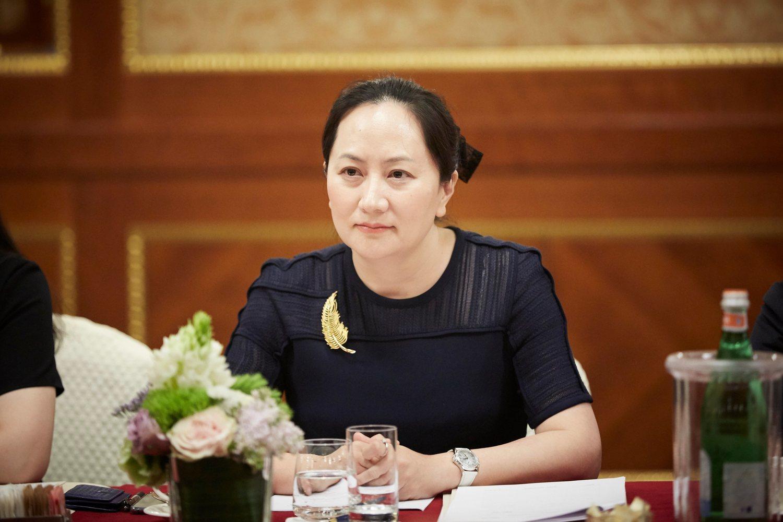 Meng Wanzhou, la directiva acusada, durante una ponencia en Milán.