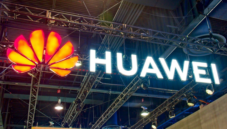 Letrero del stand de Huawei en CES Las Vegas 2019.