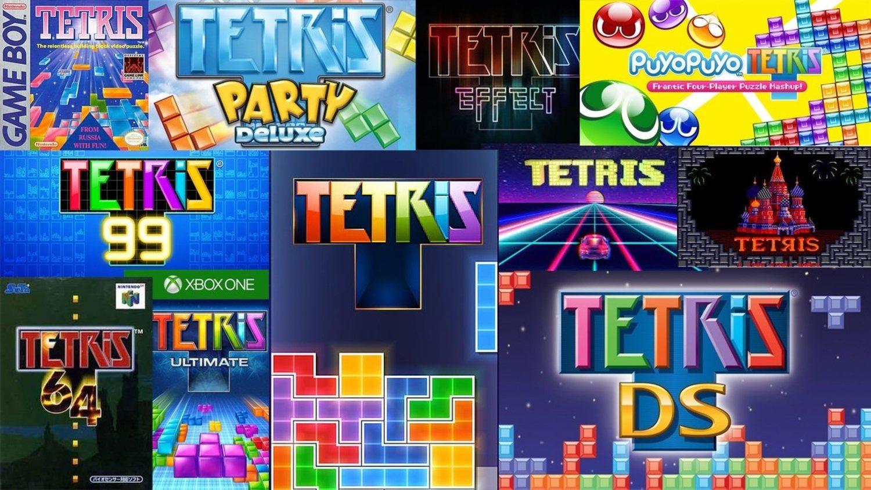 Una muestra de la variedad de versiones que tiene Tetris, desde la primera versión de 1984 hasta el nuevo Tetris 99