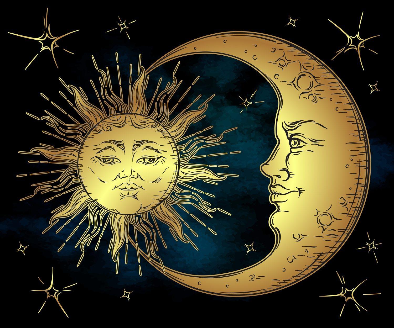 El Sol y al Luna han sido representados durante siglos como una pareja de enamorados