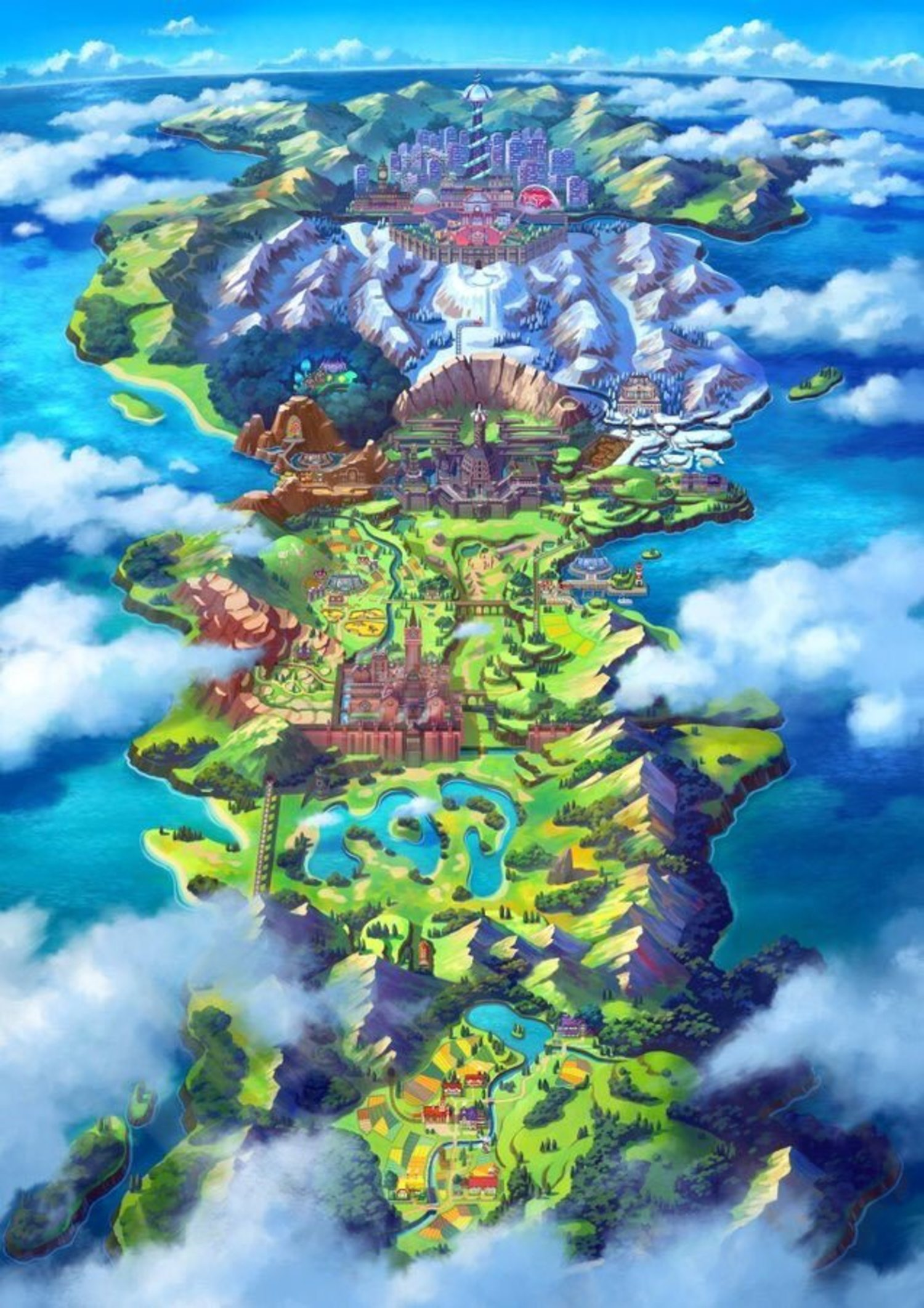 Galar, la nueva región de Pokémon inspirada en Inglaterra.