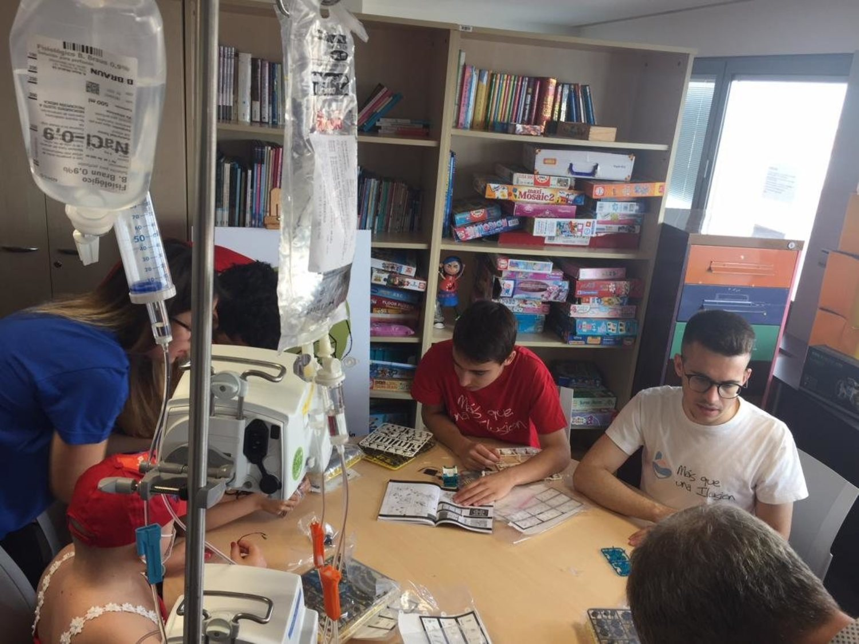Desarrollo de la terapia en la planta de pediatría en el Hospital de Albacete
