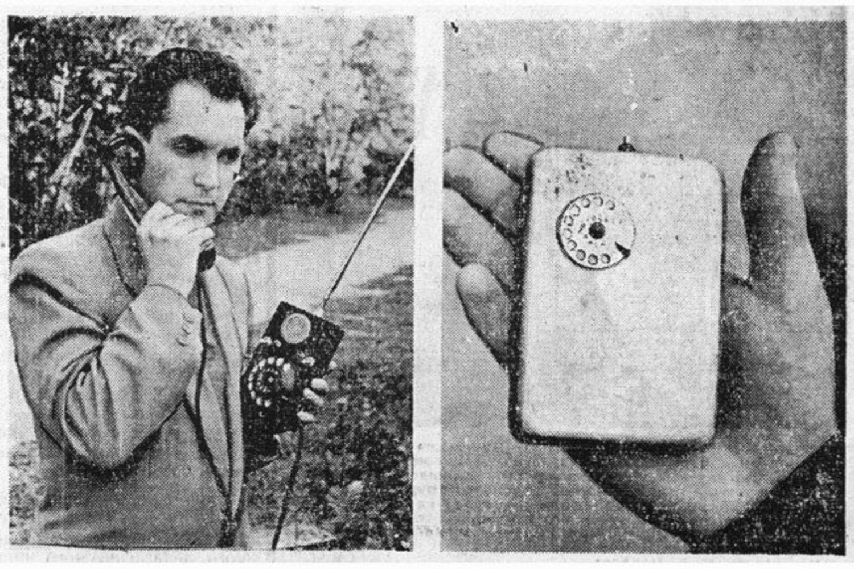 Fotografía de los dos primeros móviles de la historia fabricados en la Unión Soviética