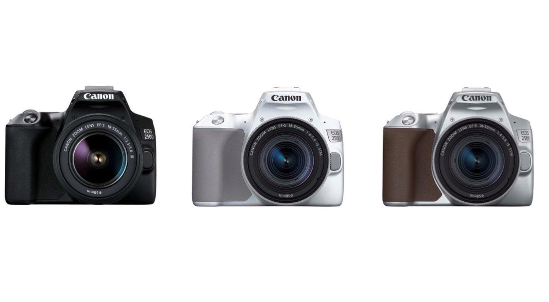 El modelo EOS 250D estará disponibles en los siguientes colores: negro, blanco y plata.