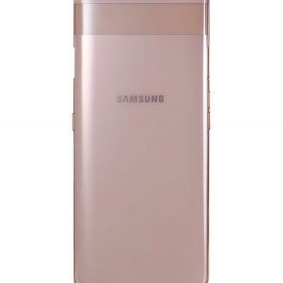 Samsung Galaxy A80 Gold con el mecanismo de las cámaras cerrado.