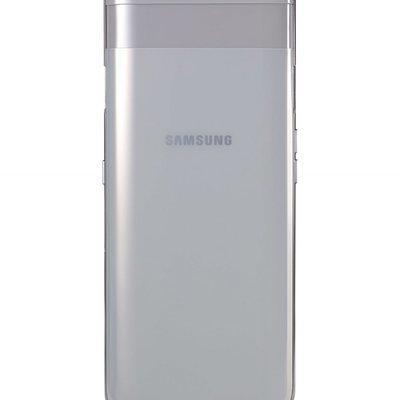 Samsung Galaxy A80 Silver con el mecanismo de las cámaras cerrado.