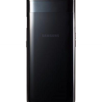 Samsung Galaxy A80 Black con el mecanismo de las cámaras cerrado.