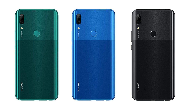 Los tres colores del Huawei P Smart Z.
