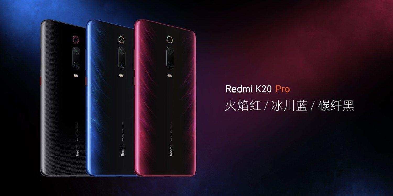 Estos son los colores disponibles del Redmi K20 Pro (Rojo, azul y carbón)