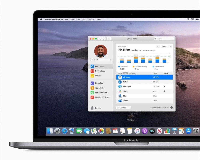 El modo Screen Time permite llevar un control sobre cuánto y cómo usas el ordenador