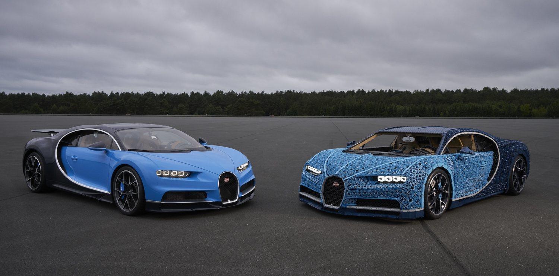 La réplica de LEGO es prácticamente igual que el Bugatti Chiron.