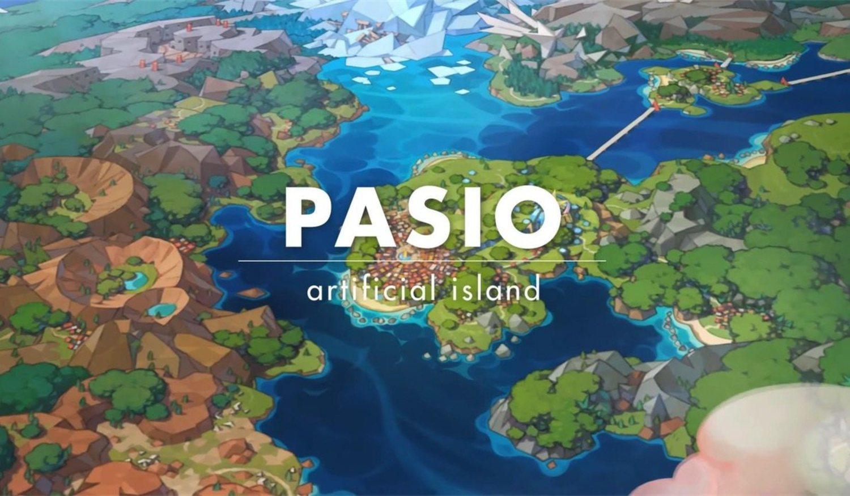 La isla de Pasio es una isla artificial que se encuentra dentro del Mundo Pokémon (del que ya conocemos unas cuantas regiones)