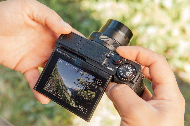 Pantalla móvil de la cámara Canon Powershot G5 X Mark II