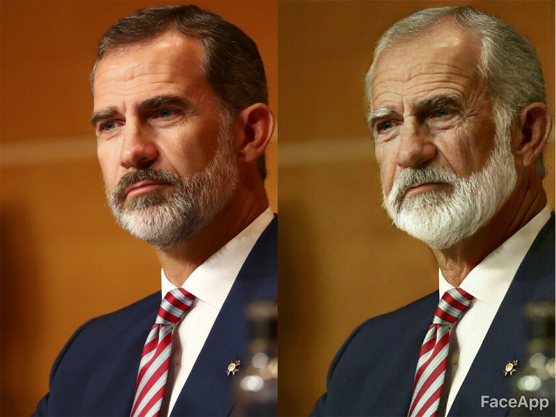 A la izquierda el Rey Felipe VI. A la derecha, el Rey emérito Felipe VI