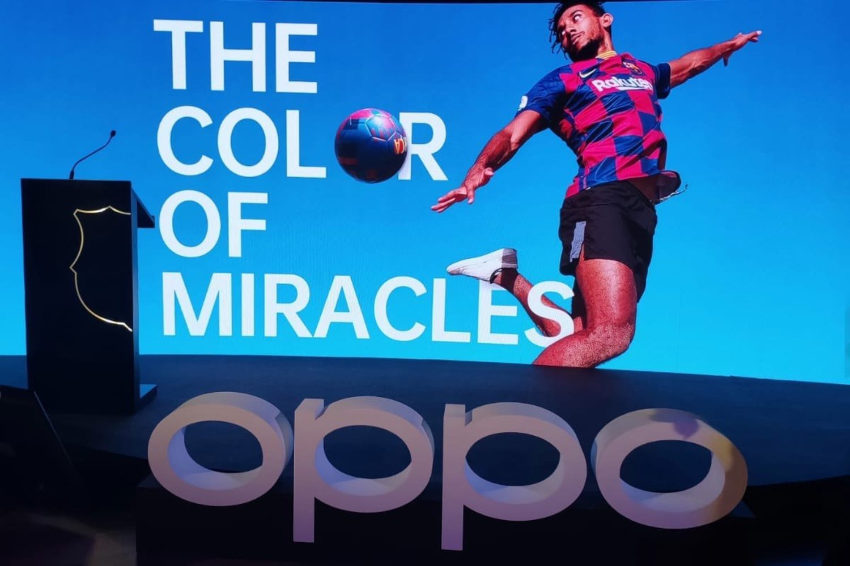 OPPO y FC Barcelona van a llegar a siete años como mínimo de asociación