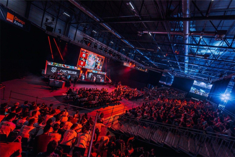 Así lucía uno de los dos estadios durante la Gamergy 2019. Un ambiente espectacular