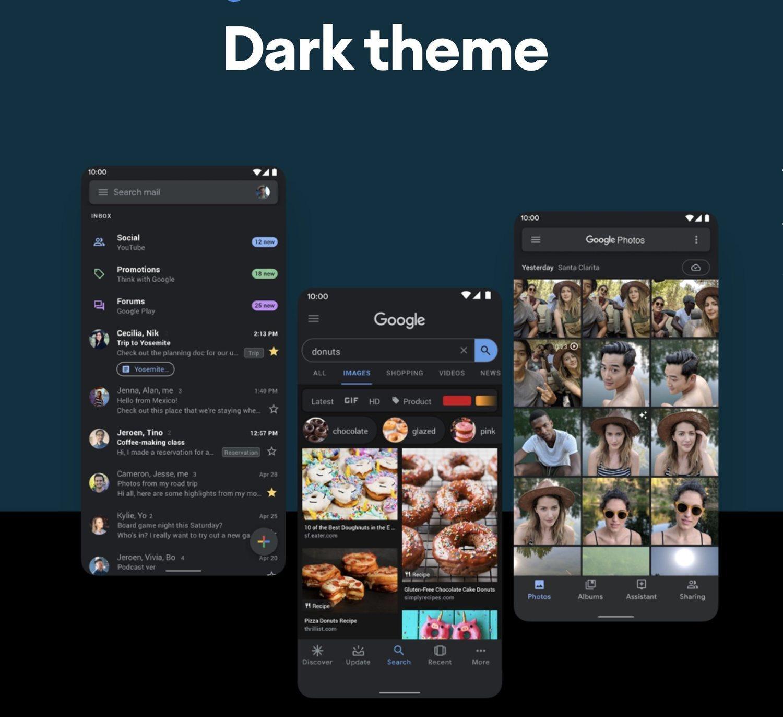 El modo oscuro es uno de los grandes aciertos de Android 10.