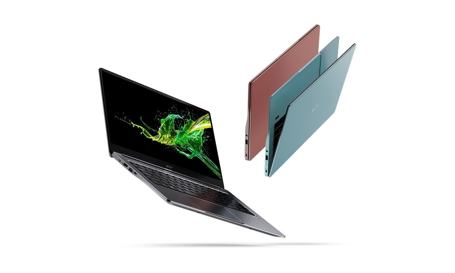 El Acer Swift 3, disponible en azul, gris y rosa.