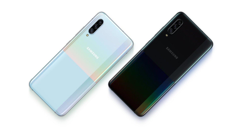 Trasera de los dos nuevos modelos Samsung Galaxy A90 5G.
