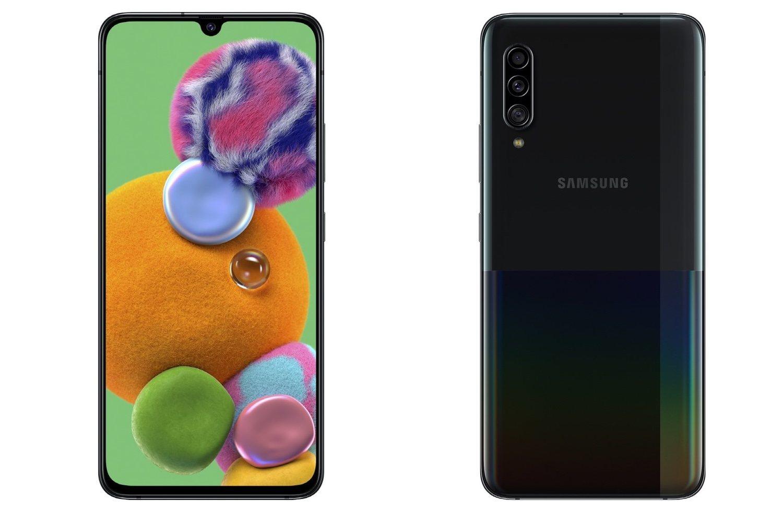 Samsung Galaxy A90 5G en negro.