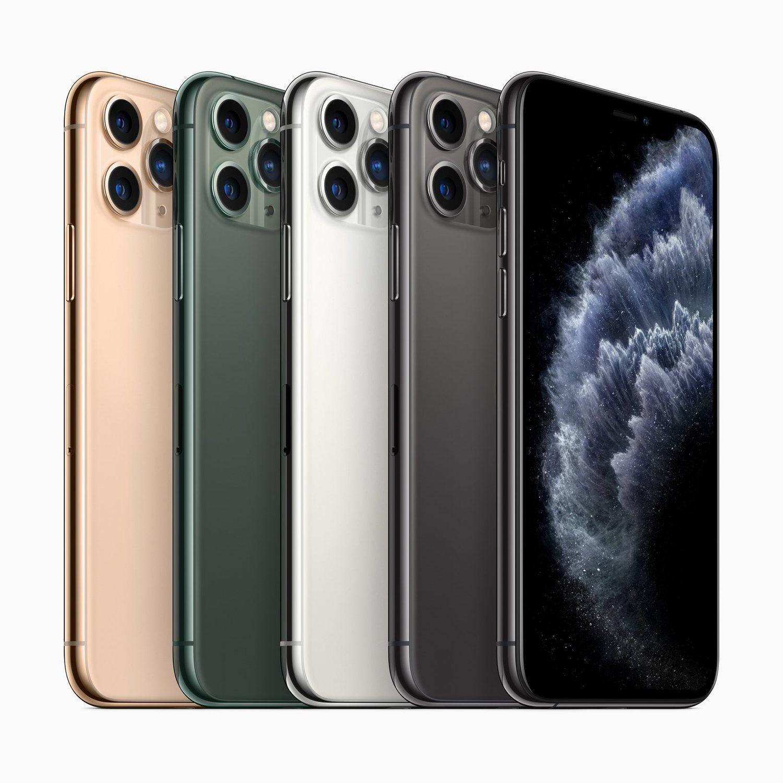 Los modelos del nuevo iPhone 11 Pro.