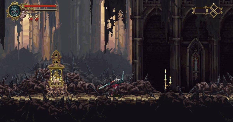 'Blasphemous' utiliza 'Pixel-art', un estilo artístico que imita a los clásicos