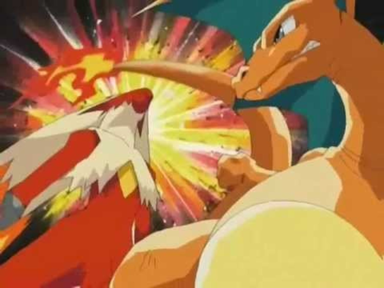 El combate entre Charizard y Blaziken es uno de los más recordados.