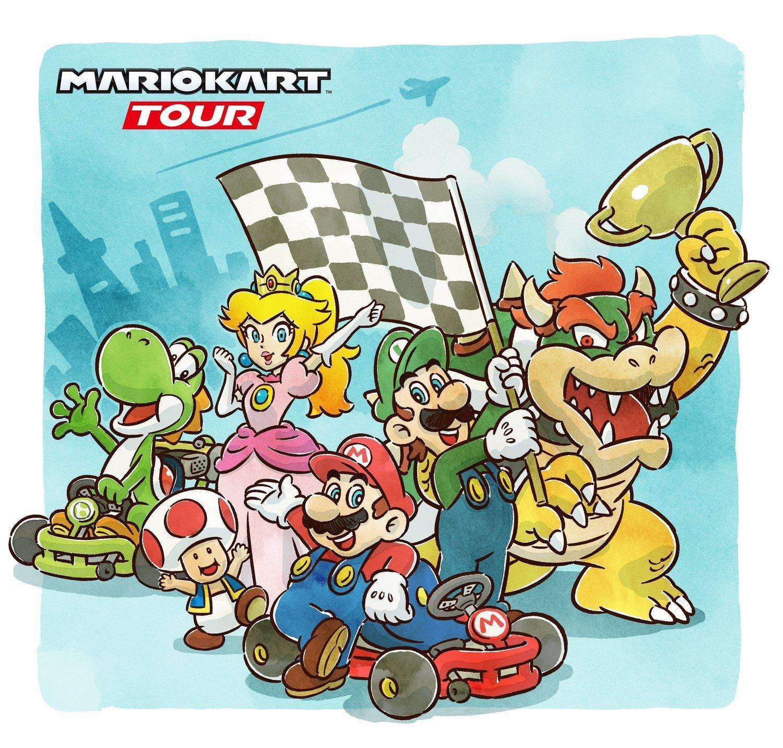 Una de las portadas diseñadas por Nintendo para su nuevo 'Mario Kart'.