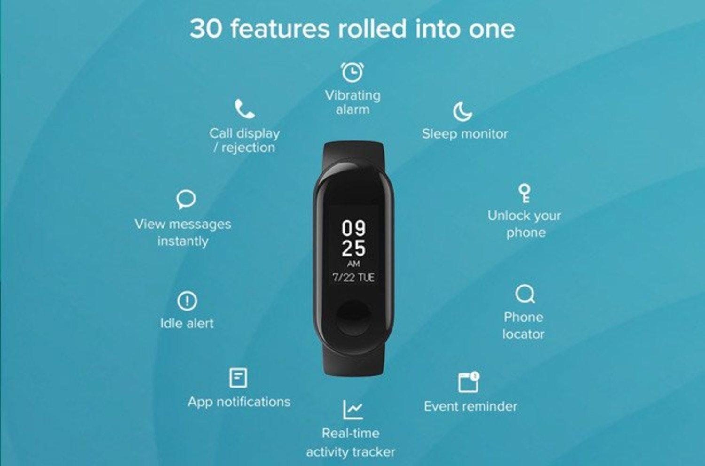 Las funciones de la Xiaomi Mi Smart Band 3i.