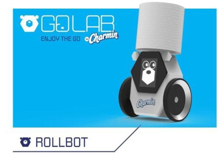 Rollbot, el robot que nos traerá papel higiénico al baño.