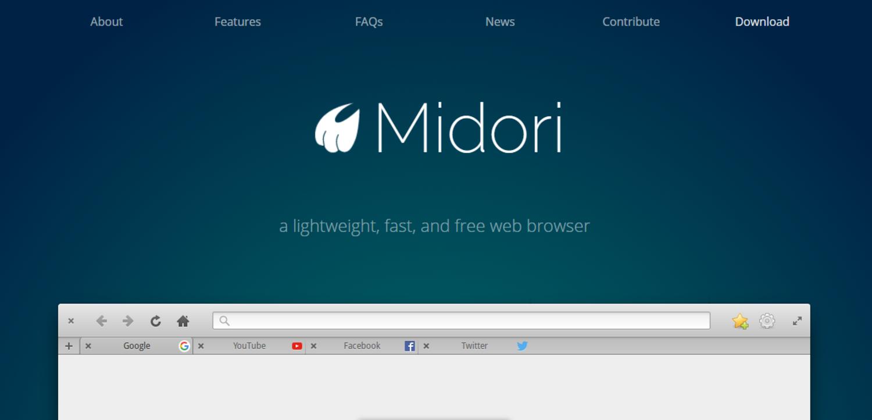 Los equipos menos potentes también necesitan su navegador y Midori es una buena opción.