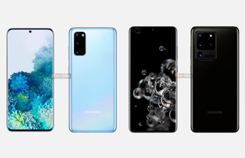 Las imágenes de prensa que muestran el diseño final y dos de los colores de los Samsung Galaxy S20 también se han filtrado.