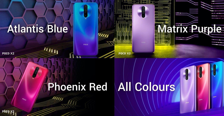 El nuevo POCO X2 llegará en tres colores distintos.