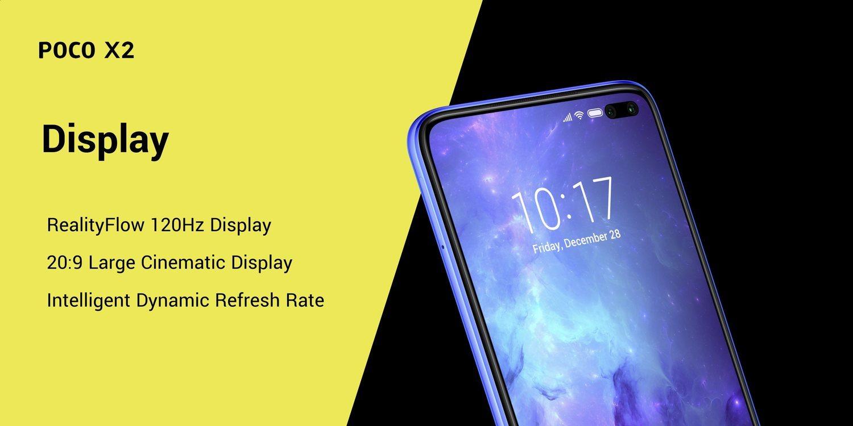 La pantalla del nuevo móvil de Pocophone tendrá una tasa de refresco de 120 Hz, que actuará inteligentemente según la aplicación.