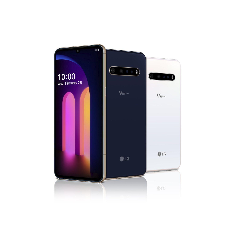 El LG V60 ThinQ llega en los colores azul y blanco y el accesorio de segunda pantalla, que no es opcional.