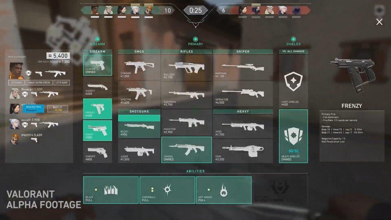 Al igual que en Counter-Strike, al comienzo de cada ronda tendremos que comprar armas y habilidades con el dinero ahorrado.