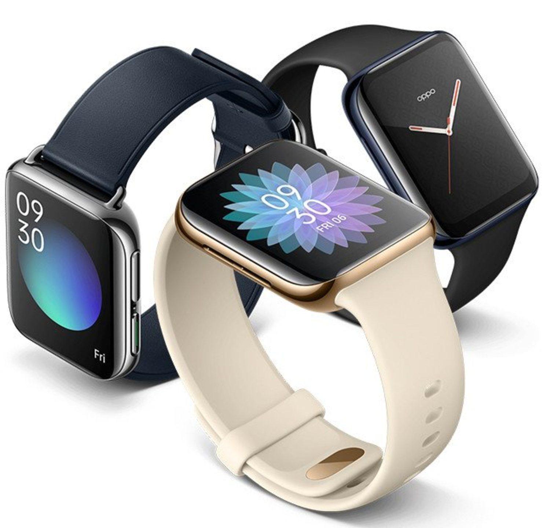 Dos colores, dos tamaños y dos materiales de fabricación para el Oppo Watch.