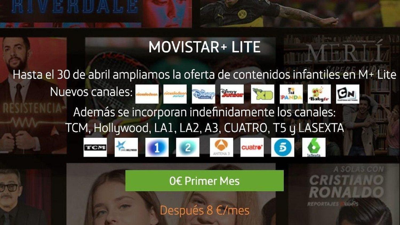 La oferta de Movistar + Lite nos permite disfrutar de algunos contenidos de forma gratuita hasta el 30 de abril.