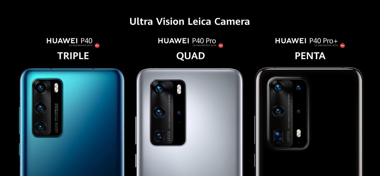 Tres, cuatro y cinco cámaras tendrán los Huawei P40, P40 Pro y P40 Pro+, respectivamente.