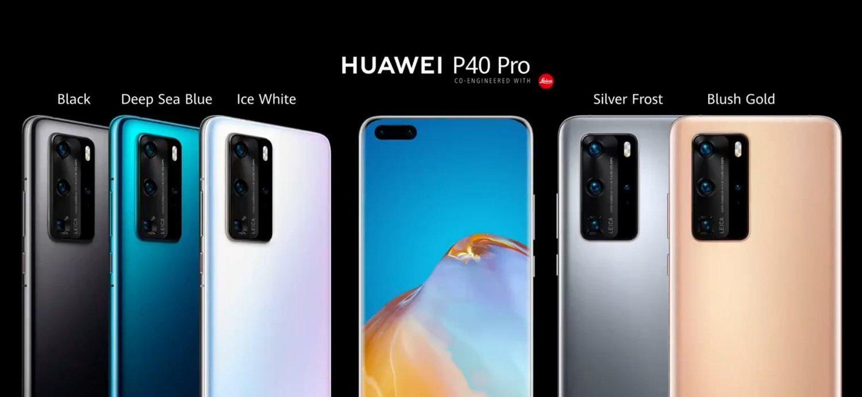 Esta es la gama de colores que acompañará a los Huawei P40.