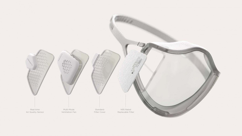 El sensor sobre la calidad del aire en el modelo Y.