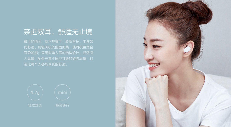 Los nuevos auriculares inalámbricos de Xiaomi pesarán 4,2 gramos.