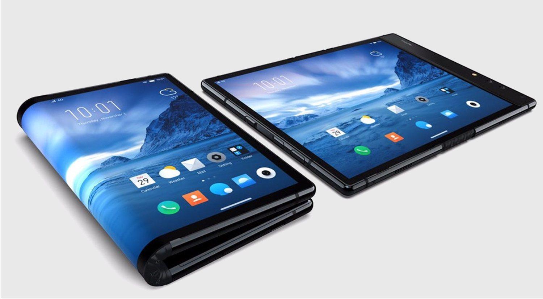 Imagen del FlexPai en modo smartphone y en modo tablet.