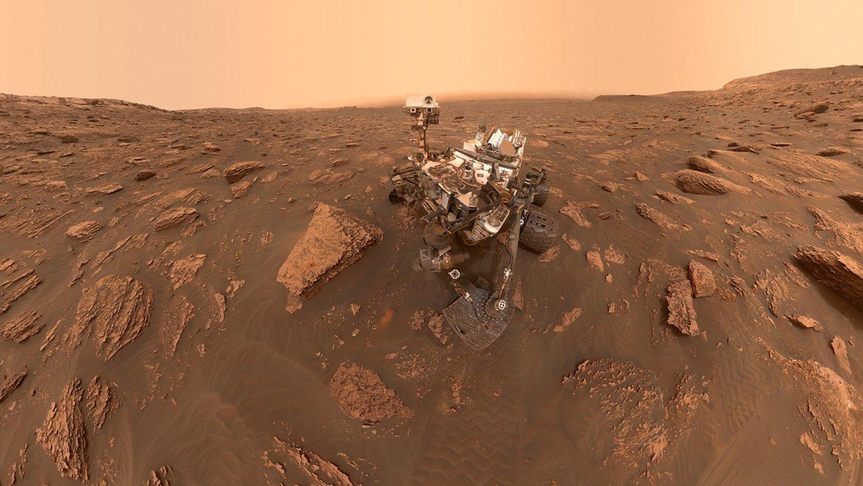 El robot 'Curiosity' en Marte.
