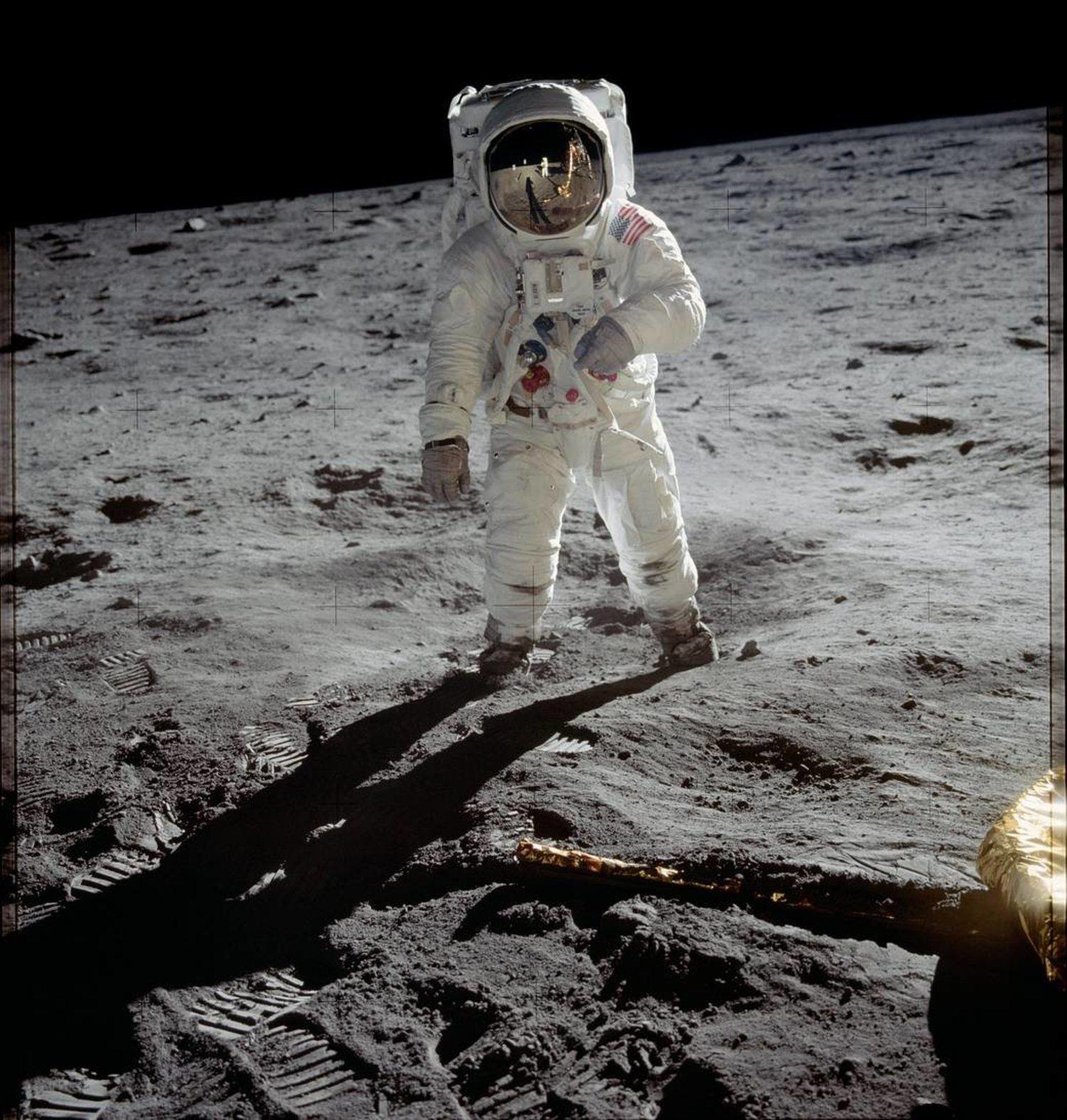 Buzz Aldrin en la Luna.